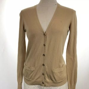 Lauren Ralph Lauren Women's Tan Thin Knit Cardigan
